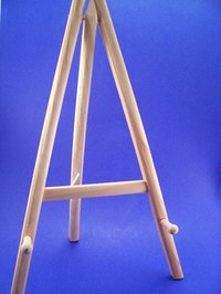 Wooden display easels are a useful item around the home.