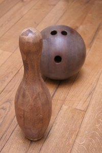 Bowling balls are surprisingly versatile in craft projects.