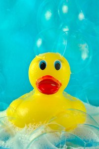 Clean and sanitize your child's rubber ducky on a regular basis.