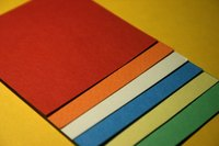 Color-aid paper is used in a variety of art applications.