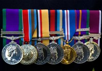 Displaying medals in a shadow box is the perfect way to honor a soldier.