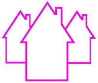 Start the paper houses craft with a plan for the size and number of houses.