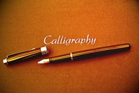 Calligraphy is a writing art that can be used on many different surfaces, including ribbons.