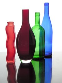 You can turn empty liquor bottles into creative craft items.