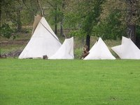 Teepees make nice shelters for camping.