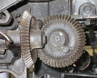 A gearbox is used after the motor to change its RPM speed.