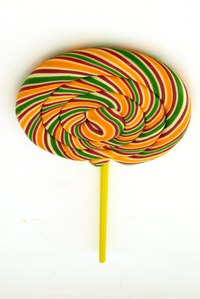 Make a lollipop with Styrofoam.