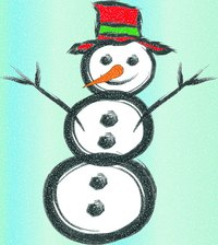 Create a snowman without snow.