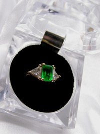 Oiling emeralds gives them a high sheen.