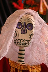 Skeletons are fixture decorations for different holidays and celebrations.