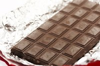 Make an edible car using a foil-wrapped candy bar.