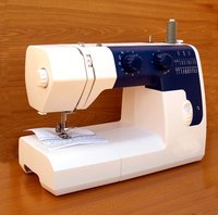Use a sewing machine for part of your Flexi-lace hemming job.