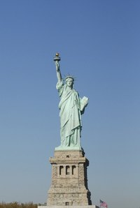 The Statue of Liberty has been exposed to over a century of weathering.