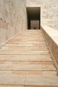 Stone steps are easy to repair with epoxy.