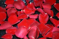 Create decorative jewelry using rose petals and resin.