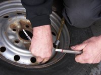 Letting the air out of the tire is the first step to breaking the bead.