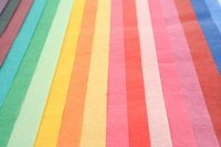 Tissue paper comes in an array of colors.