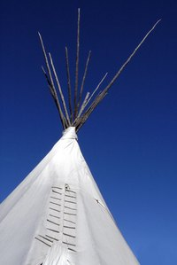 Make your own miniature teepee.