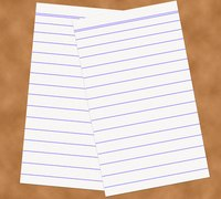 Lined paper can be used in the office or the classroom.
