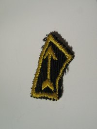 Sew embroidered patches on jackets by hand or machine.