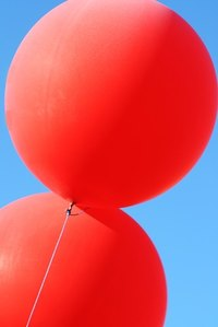 People often fill balloons with helium for parties.