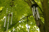 Wind chimes are a whimsical addition to any backyard.
