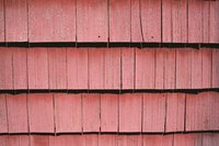 Shake siding is made from split logs.