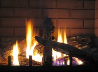 Vented gas fireplaces throw off slightly more heat than traditional fireplaces.