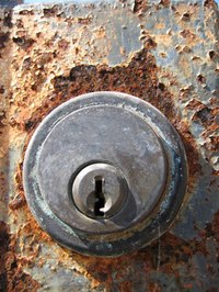 A door with a deadbolt needs two holes drilled in it.