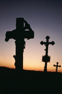 Crosses represent God's grace in taking our sin's punishment on Himself.