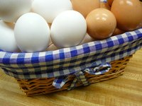 Make a charming basket liner for a recycled basket.
