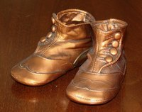 Bronzing your baby's shoes creates a keepsake.