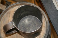 Tin cups are often made of tin-plated steel.