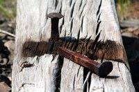 Old railroad spikes can be incorporated into a number of craft projects.