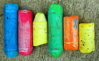 Sidewalk chalk is made from the mineral gypsum.