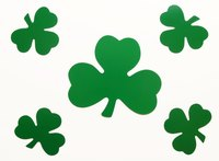 Shamrocks are a symbol of Ireland.