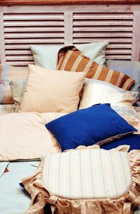 One large pillow may be more comfortable than several small ones.