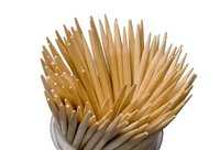 Toothpicks like these provide an inexpensive way to build crafts.