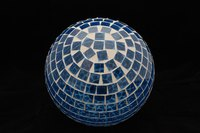 Design a mosaic gazing ball to decorate your lawn or garden.