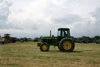 This is a typical tractor for agricultural use.
