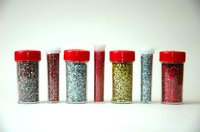 Add glitter to fabric paint for instant bling.