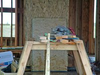 Use a drawing to find sawhorse height.