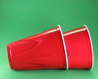 Red Solo cups are ready-made for a red and white color scheme.