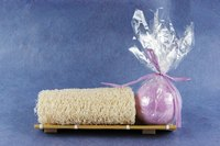 Make bath bombs at home with Epsom salt to help soothe dry skin.