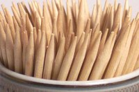 Toothpicks make excellent building materials for small crafts.
