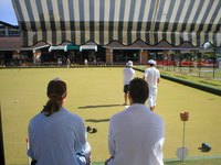 Clean lawn bowls with mild detergent.