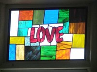Use simple lines to make a stained-glass photo frame.