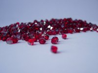Garnet is a rich, deep color in the red-blue family