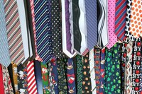 Men's neckties come in a variety of colors, prints and styles.