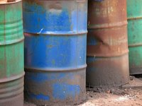 Oil drums can be re-used for storage but must be cleaned properly.